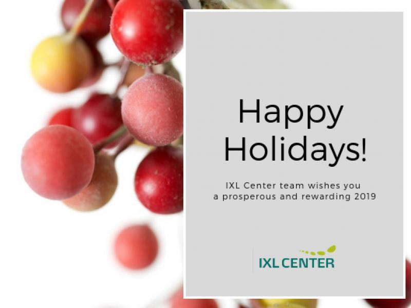Happy Holidays from IXL Center